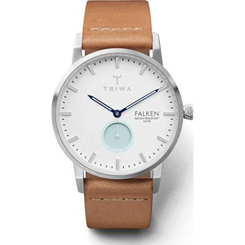 Triwa Wave Falken Watch | Tan Classic Strap - White/Blue