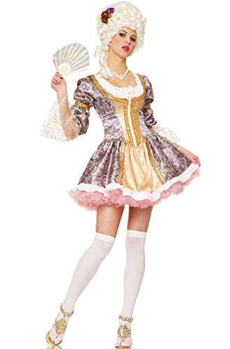 Mememall Fashion Sexy French Queen Marie Antoinette Adult Halloween Costume (Jackie Moon Halloween Costume)