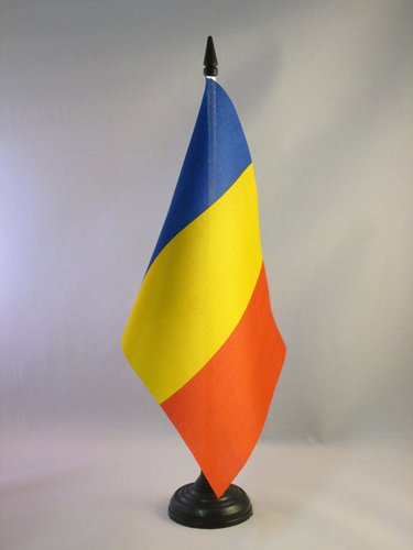 BANDIERA DA TAVOLO ROMANIA 21x14cm - PICCOLA BANDIERINA RUMENA 14 x 21 cm - AZ FLAG