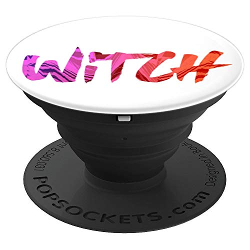 Witch Halloween Drawing Colorful Art - PopSockets Grip and Stand for Phones and Tablets ()