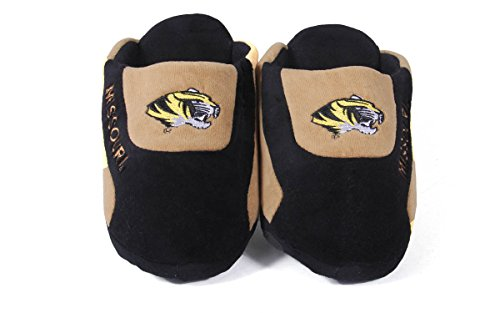 Happy Feet Mens Och Womens Officiellt Licensierade Ncaa College Låga Pro Tofflor Missouri Tigrar