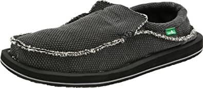 Sanuk Men's Chiba Slip-On, Black, 6 M US