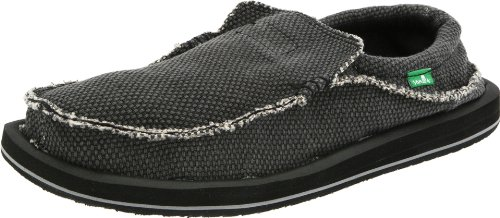 Sanuk Men's Chiba Slip On , Black ,13 M US (Best Light Bill Payment)