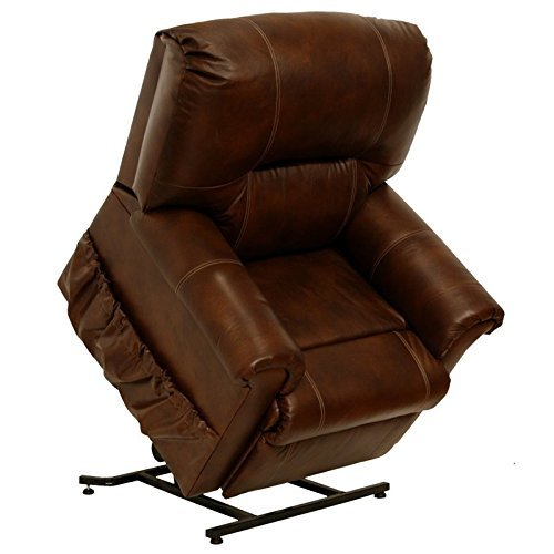 Catnapper Living Room Set - Catnapper Vintage 4843 Tobacco Top Grain Leather Power Pow'r Lift Full Lay Out Chaise Recliner Chair 350 Weight Capacity with in-Home Delivery