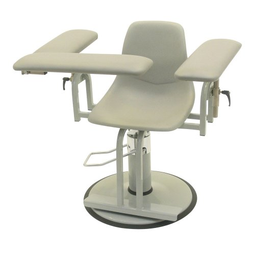 (TK Manufacturing Hydraulic Height Adjustable 350 Lb Capacity Blood Drawing (Phlebotomy) Chair, Seat Adjusts From 20