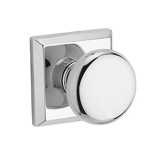 - Baldwin FDROUTSR260 Baldwin Reserve Full Dummy Lockset x Round with Traditional Square Rose in Bright Chrome Finish