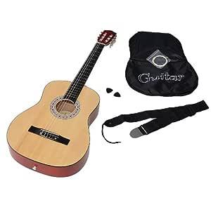 ts-ideen 5268 - Guitarra acústica clásica (incluye funda, correa ...