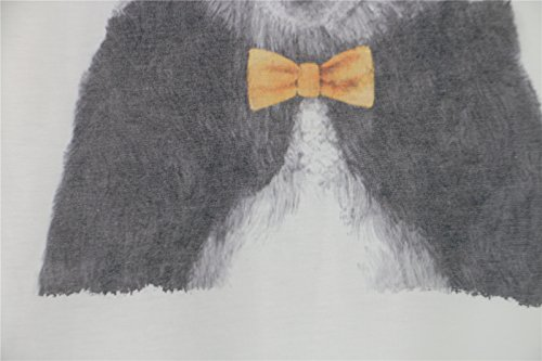 Grado Per E Panda Luna Maniche Taglia 38 Maglietta Annodato 46 Rotondo Lunghezza Donna Fantasia Miscela 68 Collo Margarita 40 La A Cotone Cm Pipistrello Bianca Unica In 42 Dimensione 44 zSUVMp