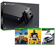 Microsoft Xbox ONE X 1TB Console Madden NFL 19, PLAYERUNKNOWN'S BATTLEGROUNDS Forza Motorsport 7 Gaming Bundle