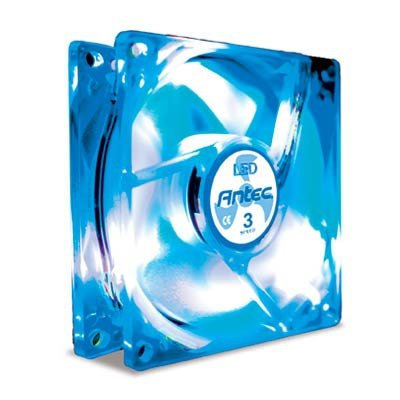 80mm blue led fan - 7