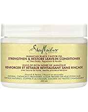 Sheamoisture Jamaican Black Castor Oil Strengthen & Restore For Over-Processed, Chemically Treated Or Heat Styled Hair, Leave-In Conditioner To Soften And Detangle Hair 325 ml