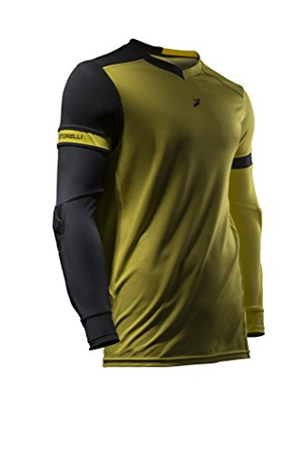 Storelli Sports ExoShield Goal Keeper Jersey, Yellow/Black, Medium (Form Polyurethane Jersey)