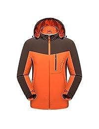 BUAAM Men's/Women's Soft Shell Midweight Windbreaker Rain Jacket