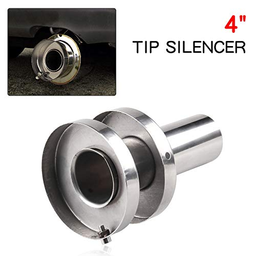 - Stainless Steel Exhaust Muffler Canister Silencer 4