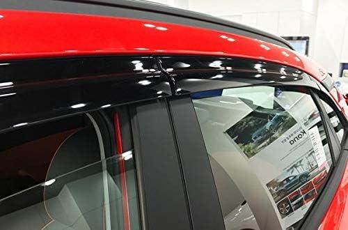 Autoclover Wind Deflectors Set for Hyundai Kona 2017+ 6 pieces