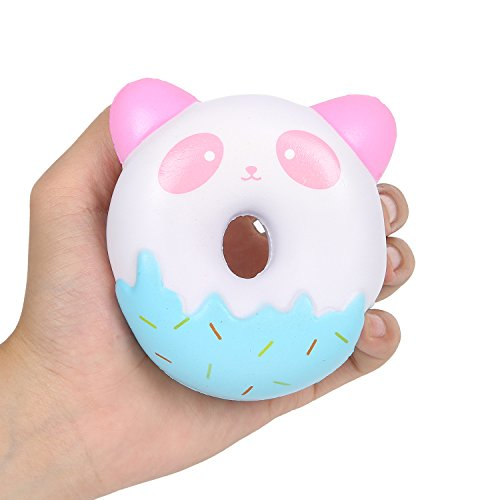 Aolige Jumbo Squishies Cute Panda Donuts Kawaii Cream Scented Very Squishies Slow Rising Decompression Squeeze Kids Simulation (Cute Donut)