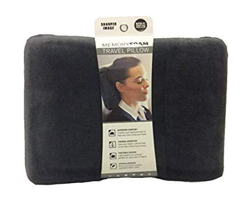 Sharper Image Rate #1 Memory Foam Travel Pillow Black 15x 11 3 1//2 15x 11 3 1//2 COMIN18JU001364