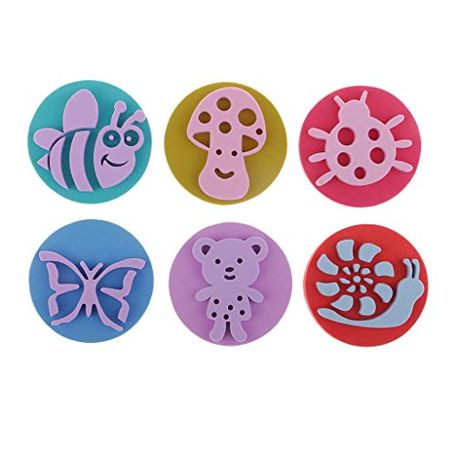 Foam Stamper - 6pcs Animal Foam Paint Stamps for Toddlers Learning Toys, Card Making, Kids Painting, Drawing Crafts
