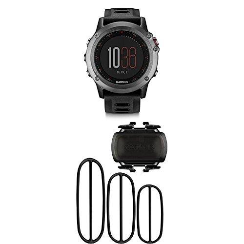 Garmin fenix 3 GPS Watch, Gray and Bike Cadence Sensor by