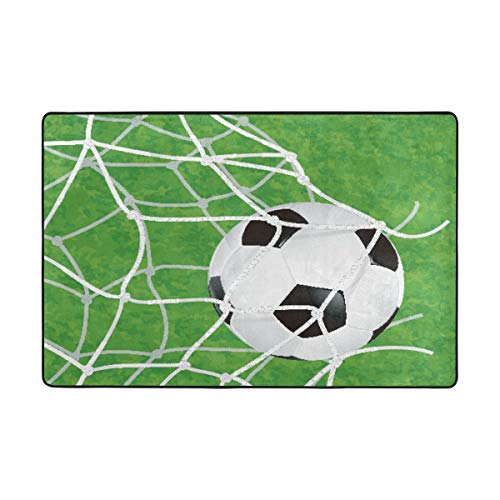 - Area Rugs 72 x 48 Inch Ball Game Soccer Football Floor Carpet Mat Doormats for Living Room Home
