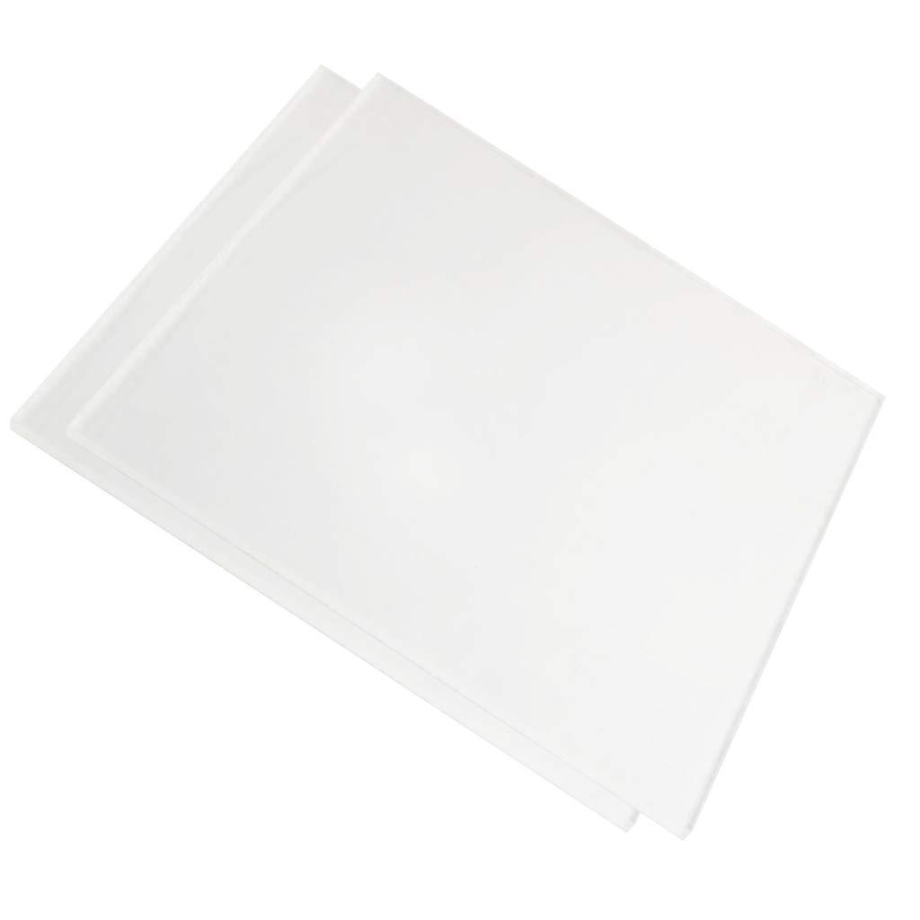 D DOLITY 2pcs 5 mm Plaque Acrylique Transparente Renforcement Format 200 x 200 mm