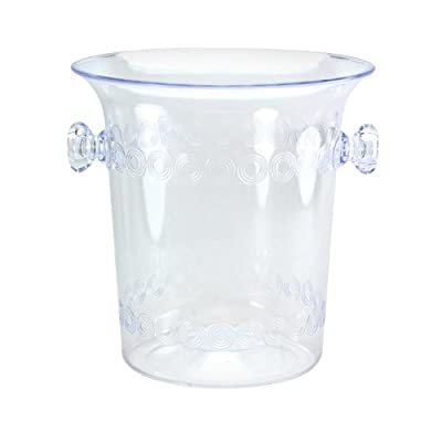 Party Dimensions 1 Count Plastic Ice Bucket, 4-Quart, Clear