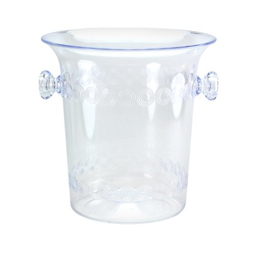 Ice Bucket, 4-Quart, Clear Plastic Ice Bucket For Wine or Champagne (Clear Ice Bucket)