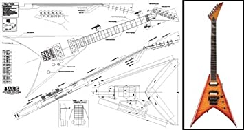 jackson wiring diagram for v jackson auto wiring diagram schematic amazon com plan of jackson king v electric guitar full scale on jackson wiring diagram for