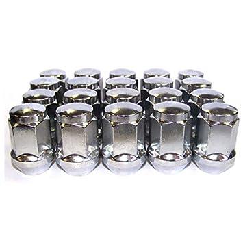 19 mm 12 x 1,25 mm c/ónicas Cromado Hexagonal. Ruedas de Tuercas para Rueda GEN2 34 mm de Largo