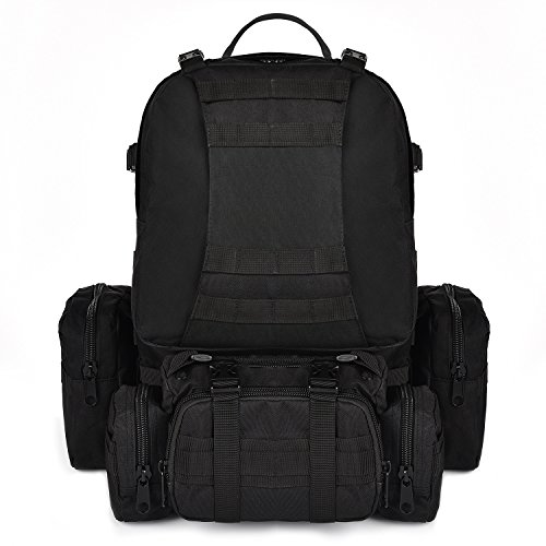 CVLIFE Outdoor 50L Military Rucksacks Tactical Backpack Assault Pack Combat Backpack Trekking Bag £¨Black£