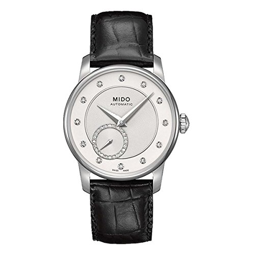 Mido Baroncelli II Silver Dial Automatic Ladies Leather Watch M007.228.16.036.00