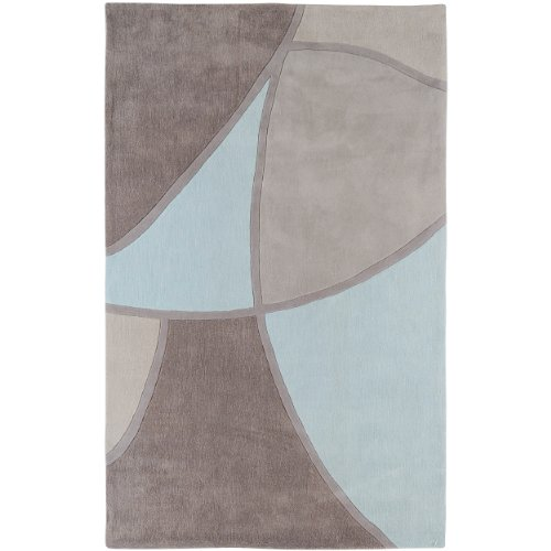 Surya Cosmopolitan COS-8888 Contemporary Hand Tufted 100% Polyester Taupe 3'6'' x 5'6'' Abstract Area Rug by Surya