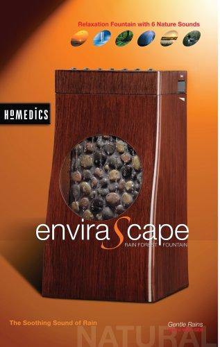 HoMedics Envirascape Gentle Rains Illuminated Rainforest Fountain with Six Sounds Sound Machine