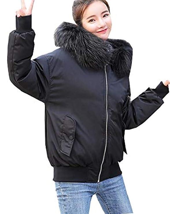 Desolateness Giacche Trapuntato Piumino Hood Leggero Gi�� Parka Fur Women Faux 6Xrq6z