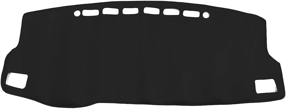 Yeeoy Black Leather Custom Dashboard Mat Dashboard Cover Sun Protector Carpet Replacement for Corolla 2014-2018