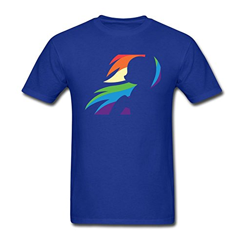 Tommery Men's My little pony Hasbro Rainbow Dash Costume Design Short Sleeve Cotton T Shirt ()