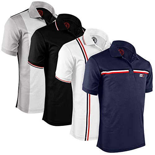 Albert Morris Mens Polo Shirts (4 Pack, Medium) Polo Shirts for Men, Shirts for Men, Short Sleeve Mens Shirts, The Scholar Pack