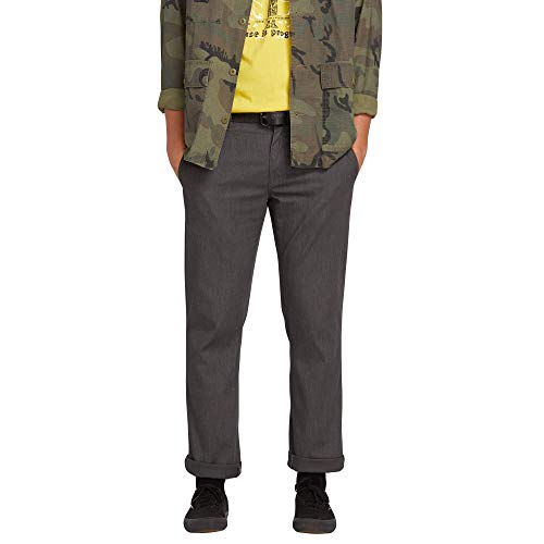 - Volcom Big and Tall Men's Frickin Modern Fit Stretch Chino Pant, Charcoal Heather, 46