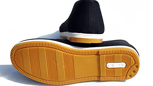 AvaCostume Alte Peking Kampfkunst Kung Fu Tai Chi Slip-On Schuhe Gelbe Sohle