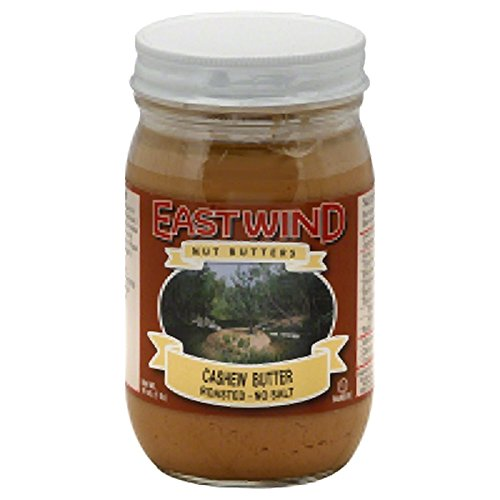 EAST WIND, CASHEW BUTTER, RSTD, NS, Pack of 6, Size 16 OZ - No Artificial Ingredients Low Sodium