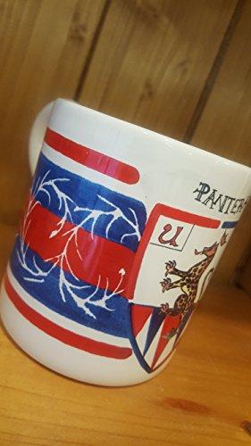 Panter Mug. Mug with the typical decoration of the Contrade of the Palio di Siena. Pantera. - Mug Caterpillar