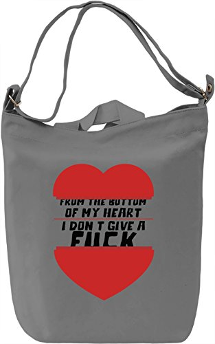 From the bottom of my heart Borsa Giornaliera Canvas Canvas Day Bag| 100% Premium Cotton Canvas| DTG Printing|