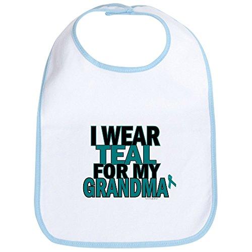 CafePress I Wear Teal For My Grandma 5 Bib Cute Cloth Baby Bib, Toddler Bib