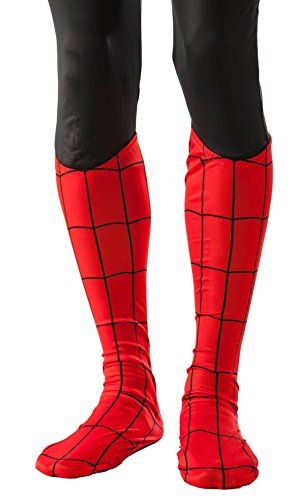 Marvel Rubie's Men's Universe Adult Spider-man Boot Tops, Multi, One Size