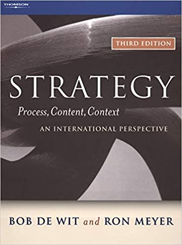 STRATEGY 3/E: Process, Content, Context: an International ...