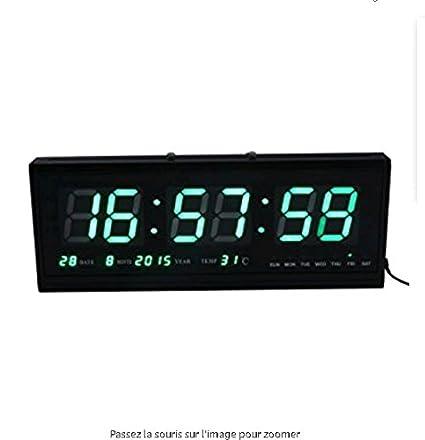 WERLM Diseño personalizado inicio reloj de pared Reloj de arte decorativo Blu-ray verde calendario
