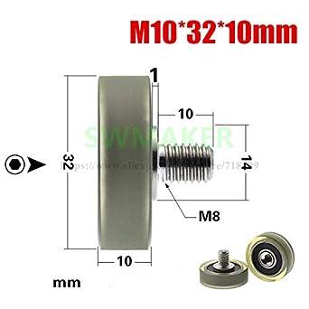 Amazon com: Zamtac 10pcs 103210mm M103210mm Bearing Pulley, Rubber