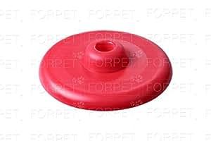 forpet® 002801Juegos para animales, Frisbi circular con pomo agujero central rojo diámetro 23cm, Disco Volante, juegos al abierto para perros, juguete para perro, Giochino para cachorros, Frisbi Dog.