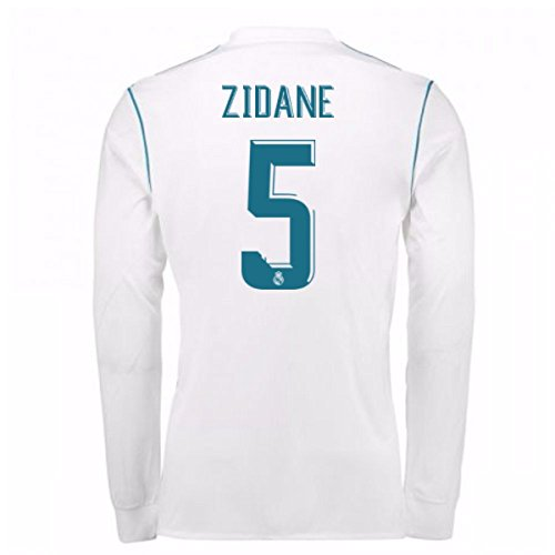 2017-18 Real Madrid Long Sleeve Home Shirt - Kids (Zidane 5)