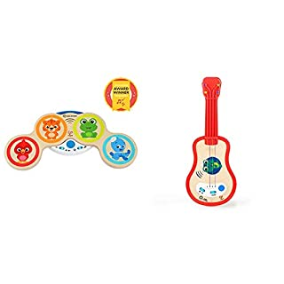 Award Winning Magic Touch Musical Play Set Drum & Ukulele Wooden Musical Toy